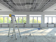 canvas print picture - 3D rendering premises under repair