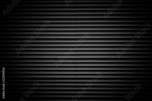 Foto  black corrugated metal texture background