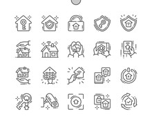 Home Security Well-crafted Pixel Perfect Vector Thin Line Icons 30 2x Grid For Web Graphics And Apps. Simple Minimal Pictogram