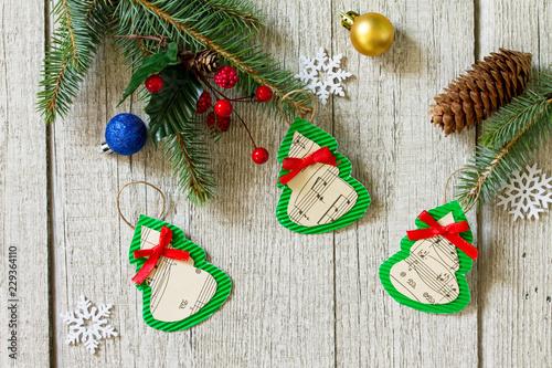 Christmas Decorations Or Christmas Gift Of Handmade Paper Handmade
