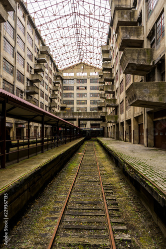 Acrylic Prints Old abandoned buildings Abandoned train terminal