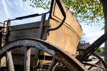 Rear Of An Old Horse-drawn Car...