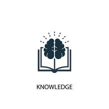 Knowledge Icon. Simple Element...