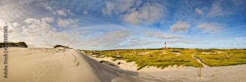 Door stickers North Sea Insel Amrum mit Leuchtturm & Dünenlandschaft