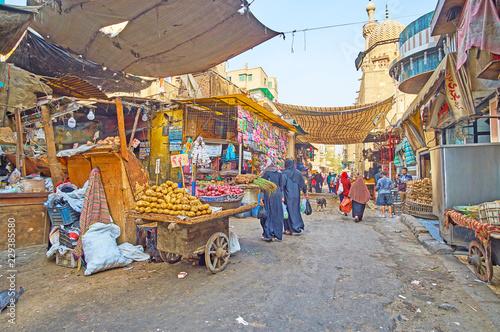 The farmers' market in Al Khayama street of Cairo, Egypt