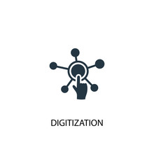 Digitization Icon. Simple Element Illustration. Digitization Concept Symbol Design. Can Be Used For Web And Mobile.