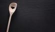 Kochlöffel mit Herz und Liebe kochen Schiefertafel Rezept Hintergrund und Menü Design