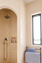Shower In Bow Shape In Modern ...