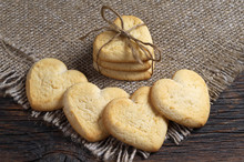 Heart-shaped Shortbread Cookie...