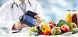 Healthy diet and blood pressure concept