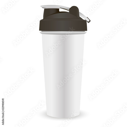 Canvas Print Sports nutrition protein shaker bottle template