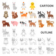Toy animals cartoon icons in set collection for design. Bird, predator and herbivore vector symbol stock web illustration.