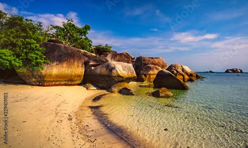 Spoed Foto op Canvas Neushoorn Tanjung Tinggi beach