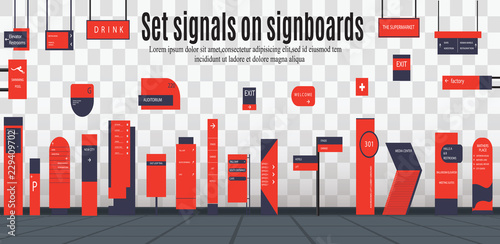 Fotografía  signboards for business
