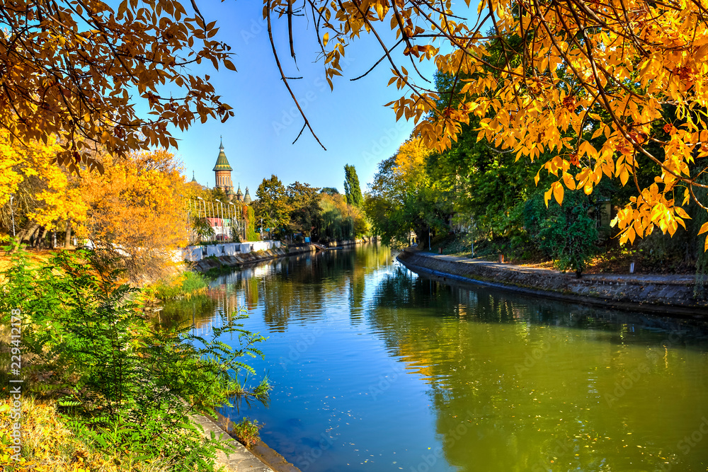 Bega River, Timisoara, Romania