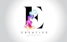 E Vibrant Creative Leter Logo ...