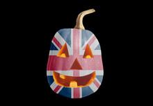 Halloween Pumpkin With British Flag