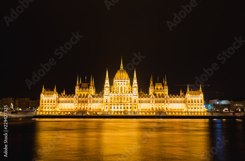 Foto op Aluminium Boedapest Hungarian Parliament Building in Budapest, One of the most beautiful buildings in the Hungarian capital.