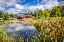 An Abandoned Red Sinking Barn ...
