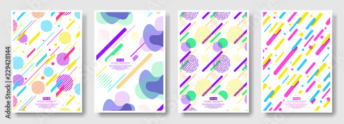 Obraz Abstract covers with seamless background available in swatches panel - fototapety do salonu
