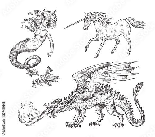 Photo Set of Mythological animals