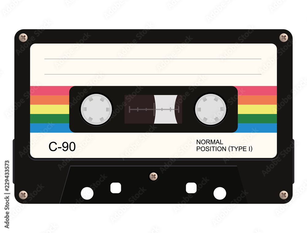 Fototapeta Cassette tape. Vector illustration