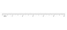 Ruler Inch Scale Vector Illustration