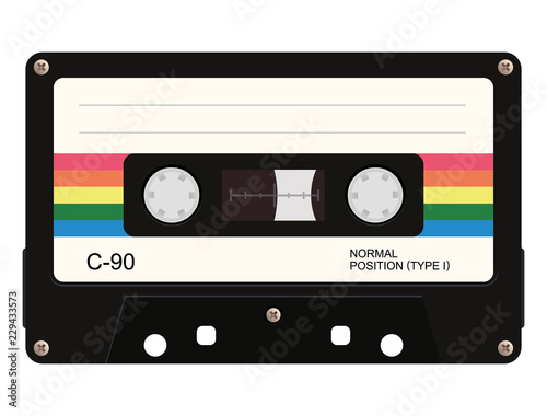 Fotografie, Tablou Cassette tape. Vector illustration