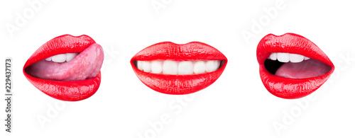 Fotografia Red lip, set mouth