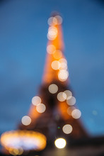 Bokeh Of Eiffel Tower In Roman...