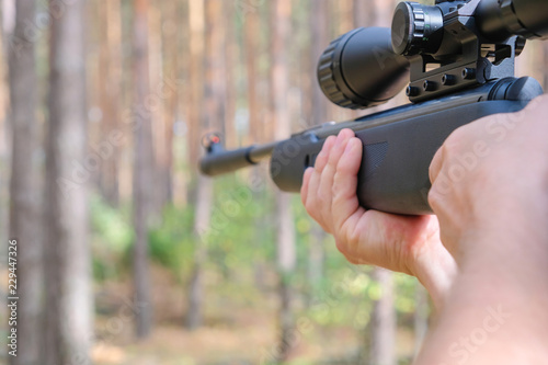 Shooting with an airgun
