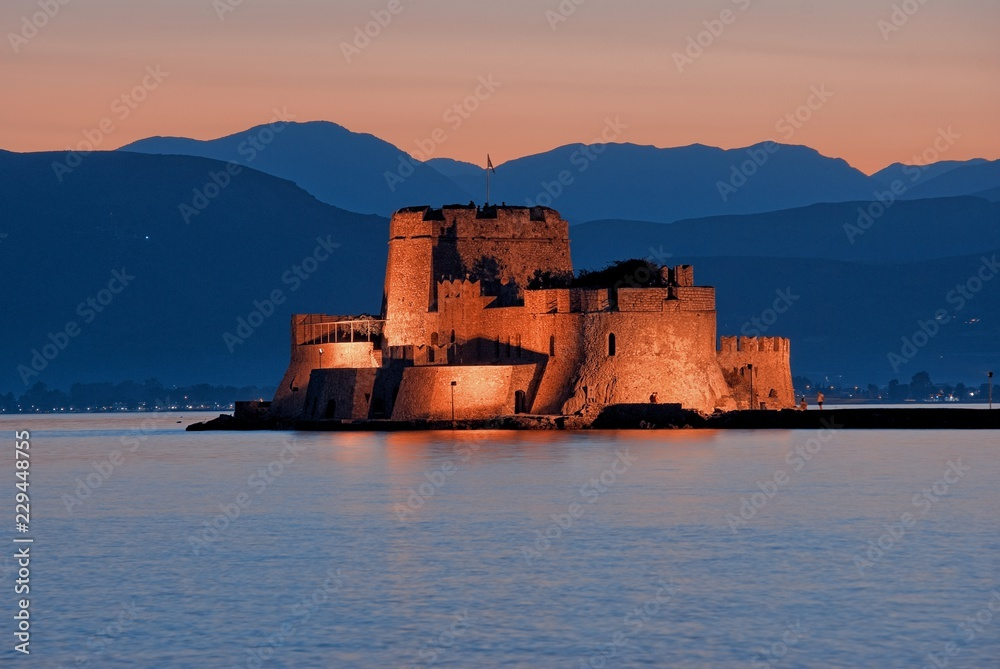 Fototapety, obrazy: Castle Of Bourtzi In Nafplio, Greece