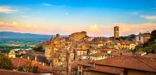 Anghiari Medieval Village Panoramic View. Arezzo, Tuscany Italy
