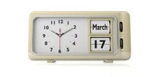 Saint Patricks Day On Old Retro Alarm Clock, White Background, Isolated. 3d Illustration.
