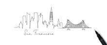 Pen Line Silhouette San Franci...