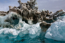 Icicles Hanging Above Sea, Ant...