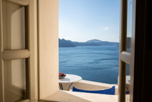 View From Window At Sea, Greece