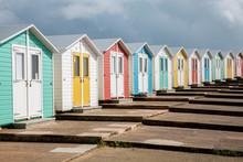 A Row Of Beach Houses In England