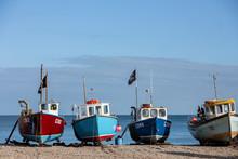 Boats Docked Along The Seashor...