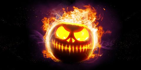 Fototapeta Halloween in Flammen