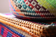 Handwoven Basket Patterns In Mexico (Detail)