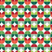 Seamless Christmas Gift Wrapping Paper Pattern. Christmas Leaf Pattern Background.