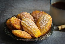 Classic Homemade Madeleines - French Sponge Cake Baked In Shell Shaped Mold