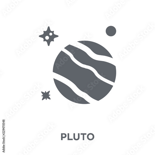 Obraz na plátně Pluto icon from Astronomy collection.