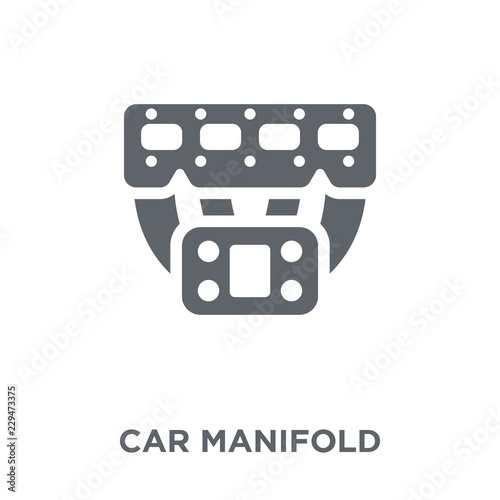 car manifold icon from Car parts collection. Wallpaper Mural