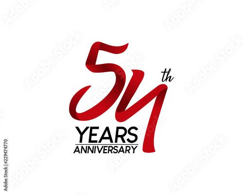 Papel de parede  54 anniversary logo vector red ribbon