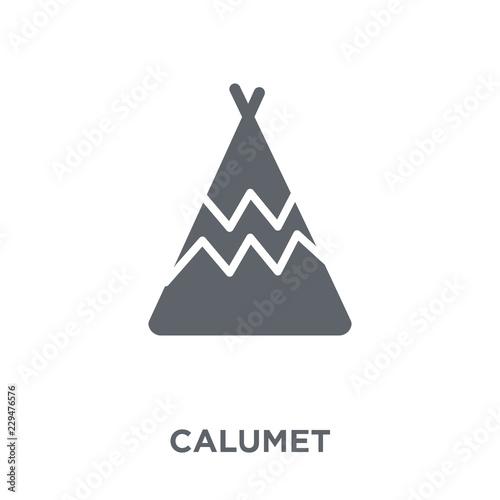 Calumet icon from American Indigenous Signals collection. Tapéta, Fotótapéta