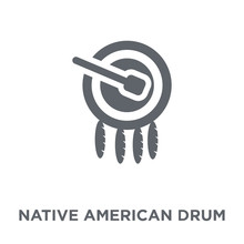Native American Drum Icon From...