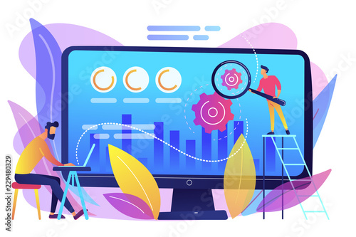 Conversion rate optimization concept vector illustration. Wallpaper Mural