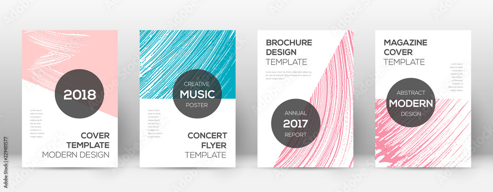 Fototapety, obrazy: Cover page design template. Modern brochure layout
